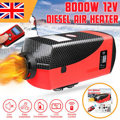 12V 8000W Air Diesel Heater LCD Remote Silencer For Motorhome Trucks Boats 8KW