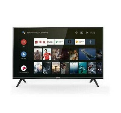 "Smart Tv Eled 40"" Led Full Hd Ready Dvb-T2/S2/C Pal Televisore Android Netflix"