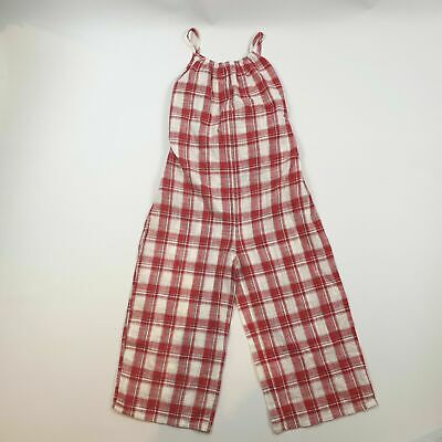 Next Girls Summer Jumpsuit Age 10 Playsuit All in One Red White Checked Cotton