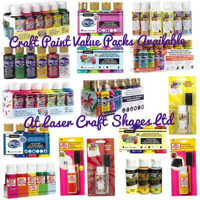 DecoArt Crafters Acrylic Value Packs Metallic Extreme Sheen Americana Paints