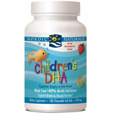 Nordic Naturals Children's DHA 250mg strawberry 90, 180 or 360 softgels