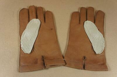 2nd quality ex shop stock Morley men's brown leather driving gloves size 10  (B)