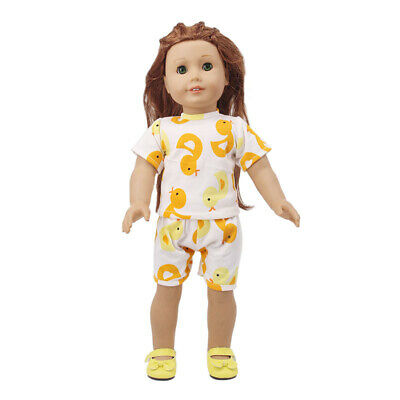 "Handmade Accessories Fits 18""Inch American Girl Doll Short Sleeve Two-Piece Suit"