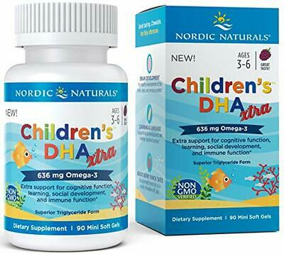 Nordic Naturals Children's DHA Xtra - 636mg Berry Punch - 90 softgels