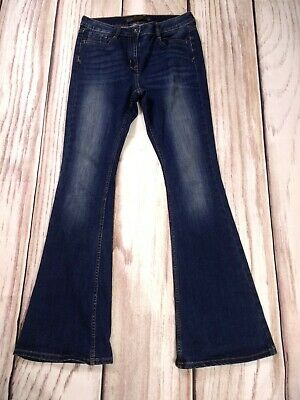 Ladies Next Flare Stretch Mid Blue Jeans Casual Size 10 R
