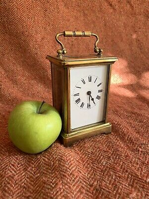 Lovely Little Antique French Brass Carriage Clock