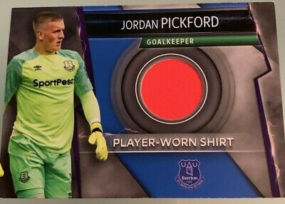 Match Attax Ultimate 18/19 Rare Player Worn Shirt Card Jordan Pickford Everton
