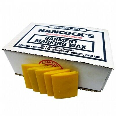 Hancock's Garment / Fabric Marking Tailors Wax Squares Yellow - Pack of 50