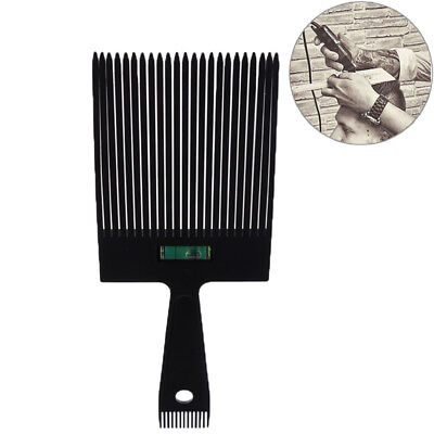 Black Flat TopGuide Comb WithLiquid Bubble Level Flat topper Straight Hair CutCP