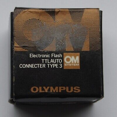 OLYMPUS OM TTL AUTO CONNECTOR TYPE 3 Boxed, Excellent
