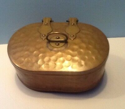 Old Hand Made Arts & Crafts Type Copper & Brass Box Good Seal To Top