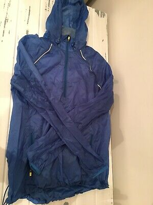 Womens Sweaty Betty Blue Running Jacket Size Small