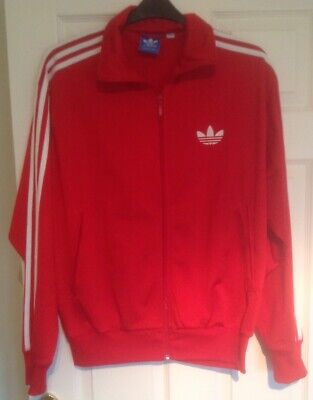 Men's Adidas Zip Up Red Jacket - Size L