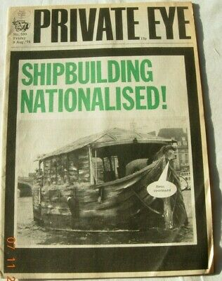 Private Eye 9 August 1974 Shipbuilding Nationalised - Benn Overboard