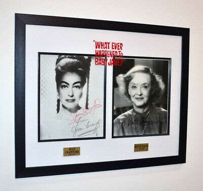 "BETTE DAVIS & JOAN CRAWFORD ""Baby Jane FEUD"" SIGNED AUTOGRAPH Display, DVD, COA"