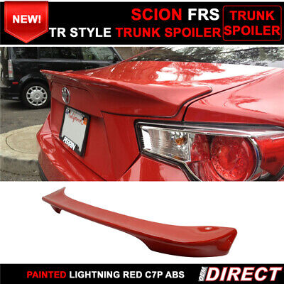 Fits 13-19 Lightning Red Firestorm #C7P Scion FRS Subaru BRZ Tr Trunk Spoiler