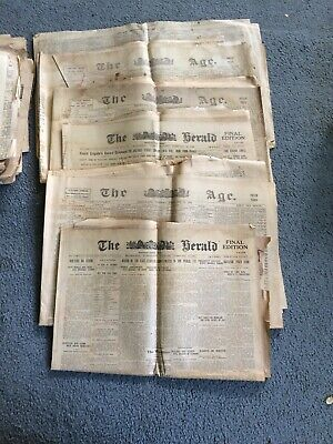 Group of old newspapers from Feb 1918