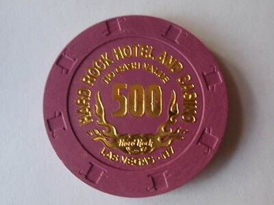 Hard Rock Hotel Casino 500 NCV Las Vegas Poker Tournament Casino Chip UNC