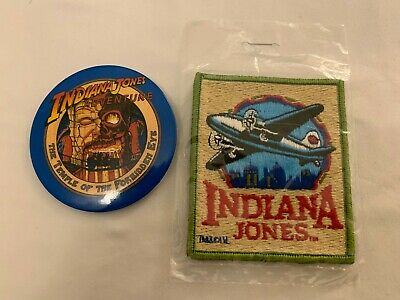 "Indiana Jones Plane Retro Patch 3 inches wide 4"" tall + Indiana Jones Button"