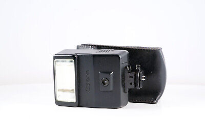 Canon speedlite 155a film camera flash with pouch AE1