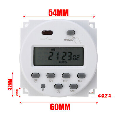 CN101A LCD Digital Timer Programmable Control AC/DC 12V 16A Time Switch Relay