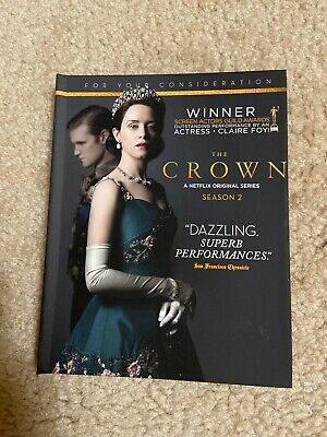 (NEW!!) THE CROWN Season 2 Netflix Series For Your Consideration  (4-DVD Set)