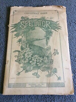 Old newspaper The Spectator Christmas edition December 1917