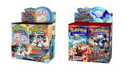 Pokemon TCG Sun & Moon Cosmic Eclipse + Primal Clash Booster Box Bundle