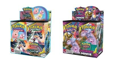Pokemon TCG Sun & Moon Cosmic Eclipse + Unified Minds Booster Box Bundle