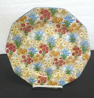 "Royal Winton Chintz MARGUERITE Luncheon Plate - 8¾"". Grimwades logo."