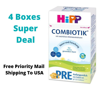 HiPP Stage Pre Bio Combiotic Infant Formula Germany 4 Boxes 600g Free Shipping