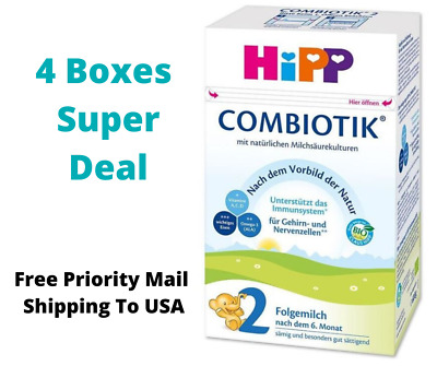 HiPP Stage 2 Bio Combiotic Infant Formula Germany 4 Boxes 600g Free Shipping