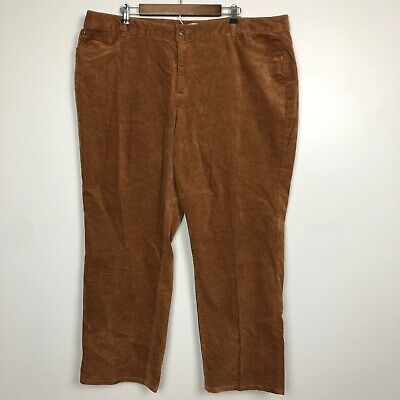 Cj Banks Women's Corduroy Pants Size 22W Straight Leg Moderately Curvy Fit
