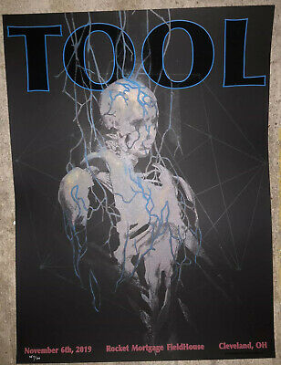 TOOL BAND SIGNED by all poster #55 Eliza Ivanova Cleveland