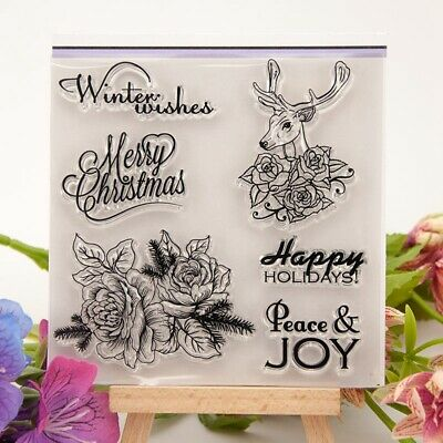 Rose Transparent Silicone Clear Rubber Stamp Sheet Cling Scrapbooking DIY BE