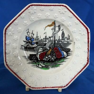 Antique Pearlware Political Corn Law Satire Pottery Plate