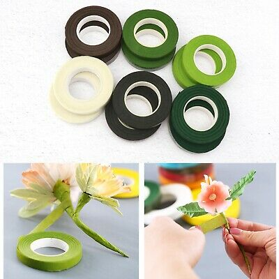 12 Rolls Florist Floral Stem Tape Width 30Yard for Bouquet Flowers 6-Colored