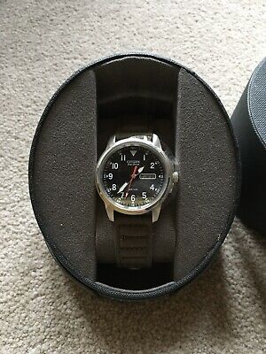 Citizen Eco-Drive Military Wrist Watch With Canvas Strap