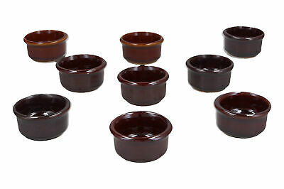 9 x Grayshott Pottery butter / condiment dishes English Brown glazes Job lot Caf