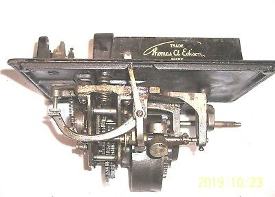 Edison Standard Phonograph Model D Bed Plate And Motor