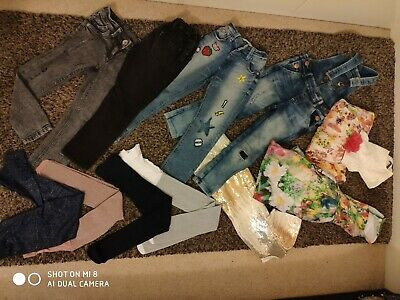 Girls Bundle 4 - 5 Tights Trousers Dress Dungarees NEXT some new
