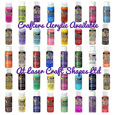 DecoArt Crafters Acrylic Craft Art Paint - All Purpose 59ml 2oz - 86 Colours