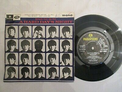 """The Beatles  Extract Form A Hard Day's Night 7"""" Single Picture Cover"""