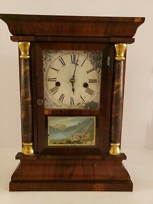 Antique Working 19th C. Waterbury Clock Co. OGEE OG Victorian Mantel Shelf Clock