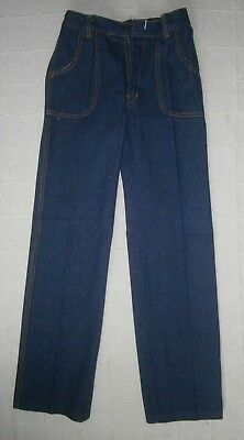 Vintage Soft Strong Denim Jeans - Age 12 Years - Navy - Zip Front  - New