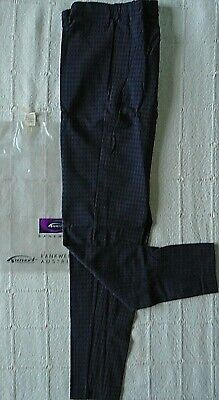 Vintage Stretch Skinny Trousers - Age 12-14 years  Approx- Navy/Brown Check -New