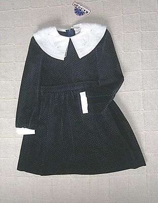 Vintage Quality Party Dress - Age 5 Years - Velvet - Midnight Blue - New