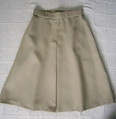 Vintage Ladybird Skirt - Age 13 Years - Stone - Drill - Front Pleat - New