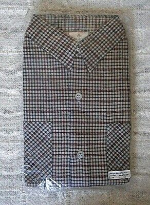 Vintage Boys Check Shirt - Age  12 - Red/Navy Check Brushed Cotton  - New