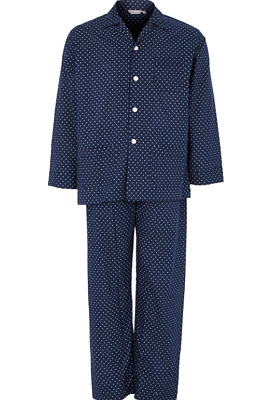 BNIP Mens Derek Rose Pyjamas Navy/White 100% Cotton  Sizes  M   L   XL  RRP £195